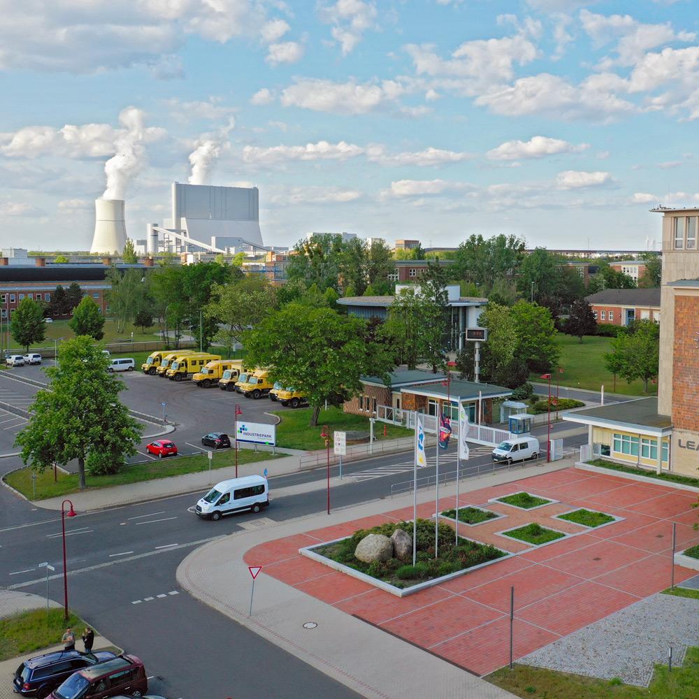 Blick auf den Industriepark Schwarze Pumpe