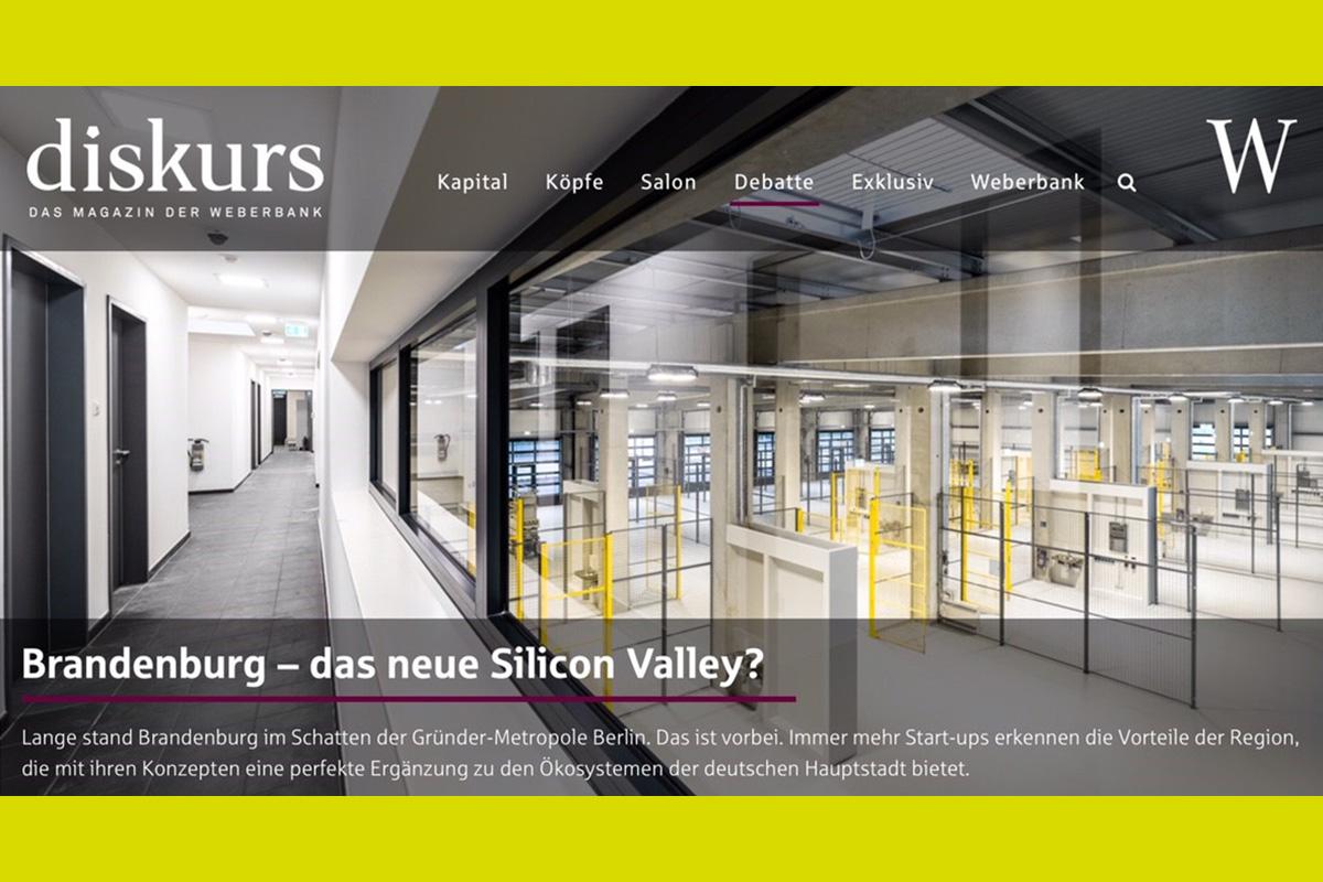 Screenshot des Beitrages über das Dock3 bei der Weberbank Berlin