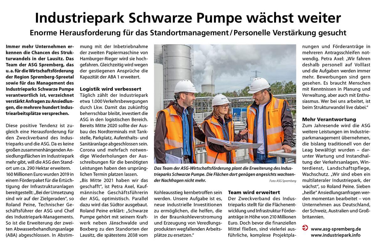 Der Industripark Scharze Pumpe wächst